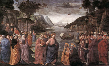 El llamado a los primeros Apóstoles - Domenico Ghirlandaio