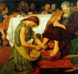 Cristo lava los piés de San Pedro - Ford Madox Brown
