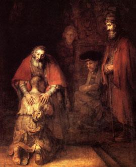 El regreso del hijo pródigo - Rembrandt