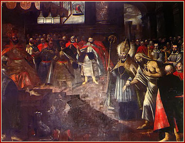 San Estanislao presentando a Pedro frente al rey Boleslao