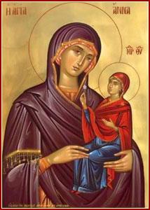 SANTA ANA, Madre de la Santísima Virgen María
