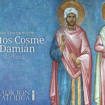 27 de septiembre: Santos Cosme y Damián