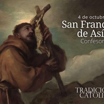 4 de octubre: San Francisco de Asís