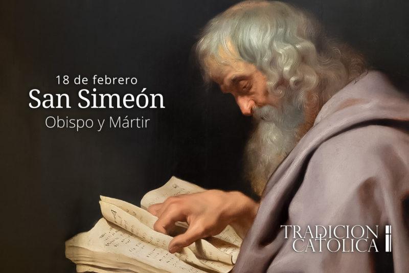 18 de febrero: San Simeón