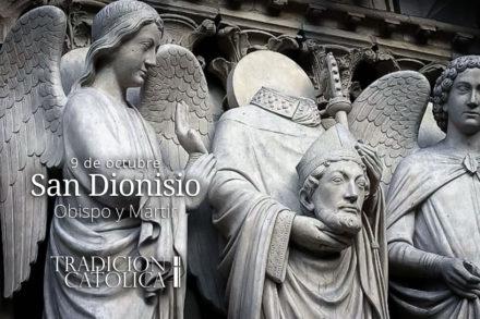 9 de octubre: San Dionisio