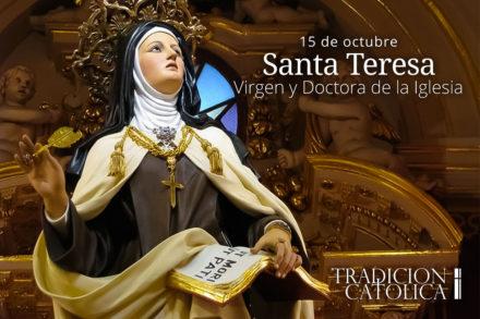 15 de octubre: Santa Teresa