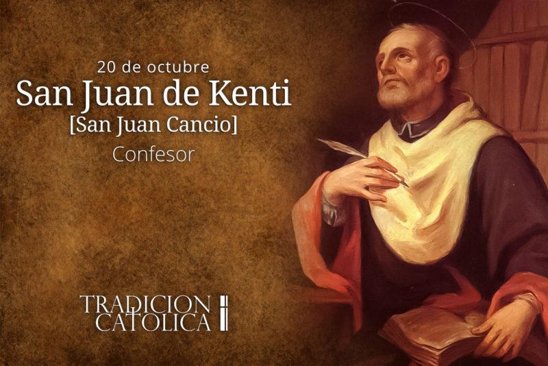 20 de octubre: San Juan de Kenti