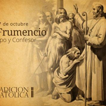 27 de octubre: San Frumencio