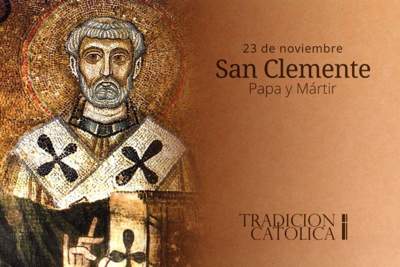 23 de noviembre: San Clemente