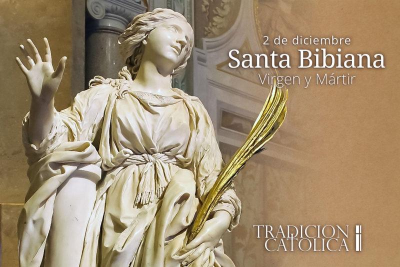 2 de diciembre: Santa Bibiana