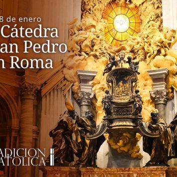 18 de enero: La Cátedra de San Pedro en Roma
