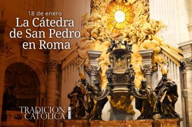 La Cátedra de San Pedro en Roma