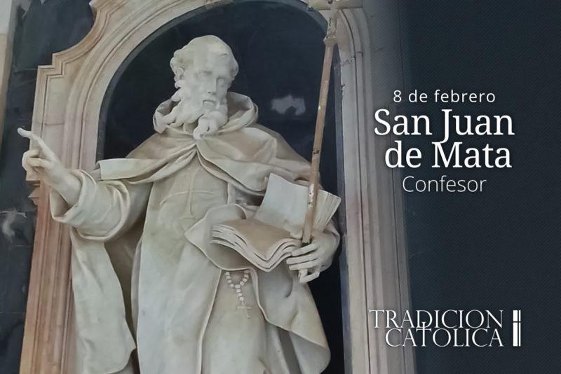 8 de febrero: San Juan de Mata