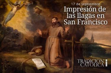 Impresión de las llagas de San Francisco