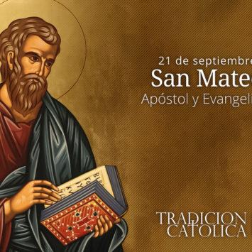 21 de Septiembre: San Mateo