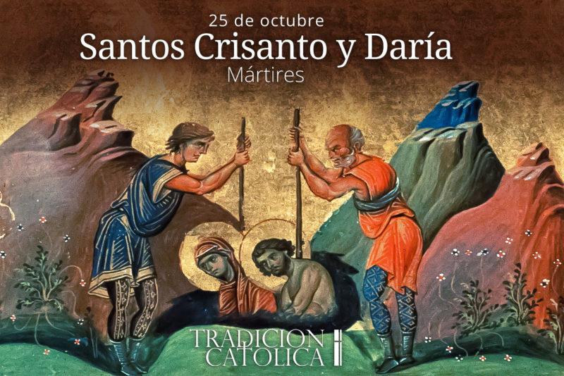 25 de octubre: San Crisanto y Santa Daría