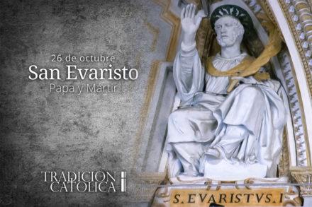 26 de octubre: San Evaristo