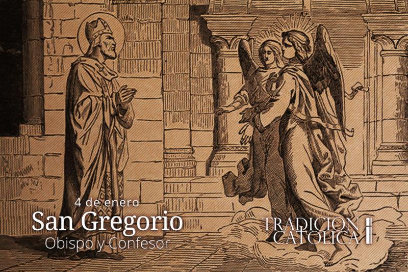 4 de enero: San Gregorio